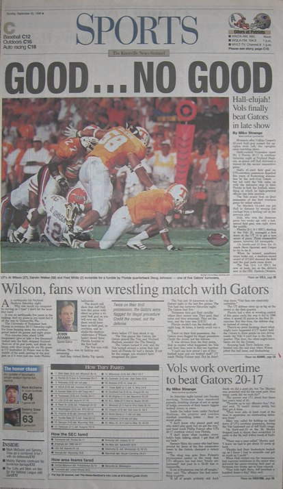 Tennessee v Florida -1998 - Headline