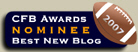 2007 CFBA Nominee: Best New Blog